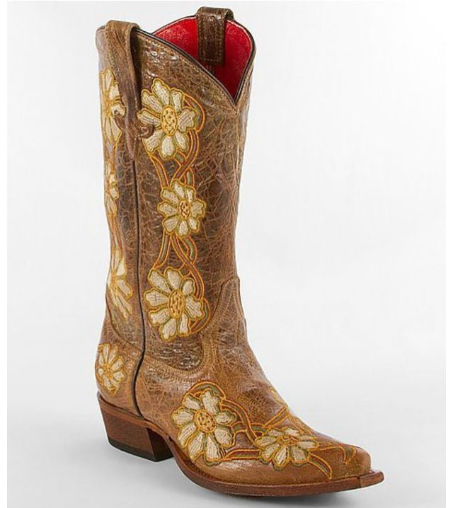 8161bc5c7aa I love these:) sunflower boots! I've never owned a pair of cowboy ...