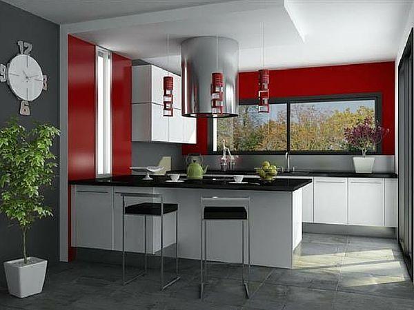 Créer Une Déco Chic Avec Sa Peinture Cuisine Peinture Cuisine - Peinture rouge cuisine pour idees de deco de cuisine