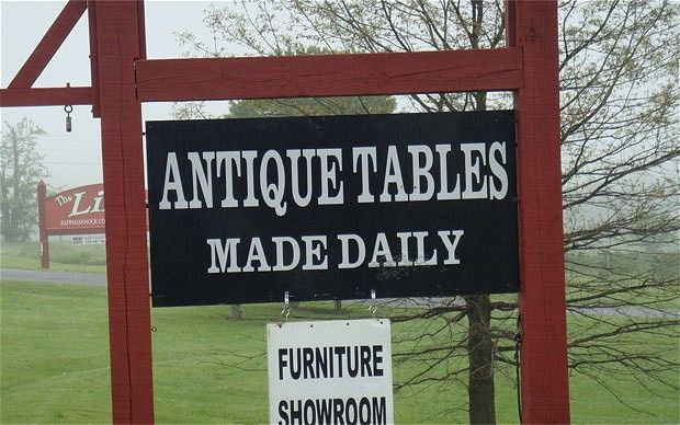 Antique tables - made daily!