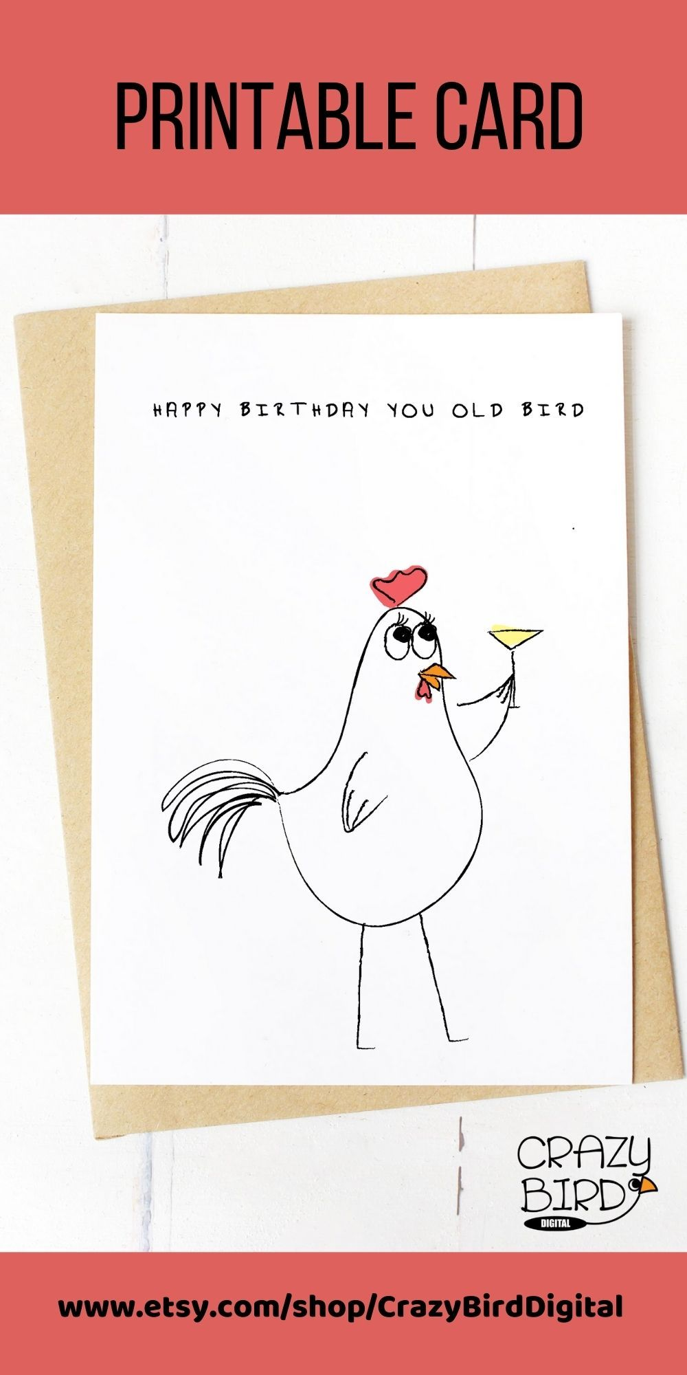 Birthday Card For Her Funny Birthday Card For Best Etsy Birthday Cards For Friends Funny Printable Birthday Cards Birthday Card Printable