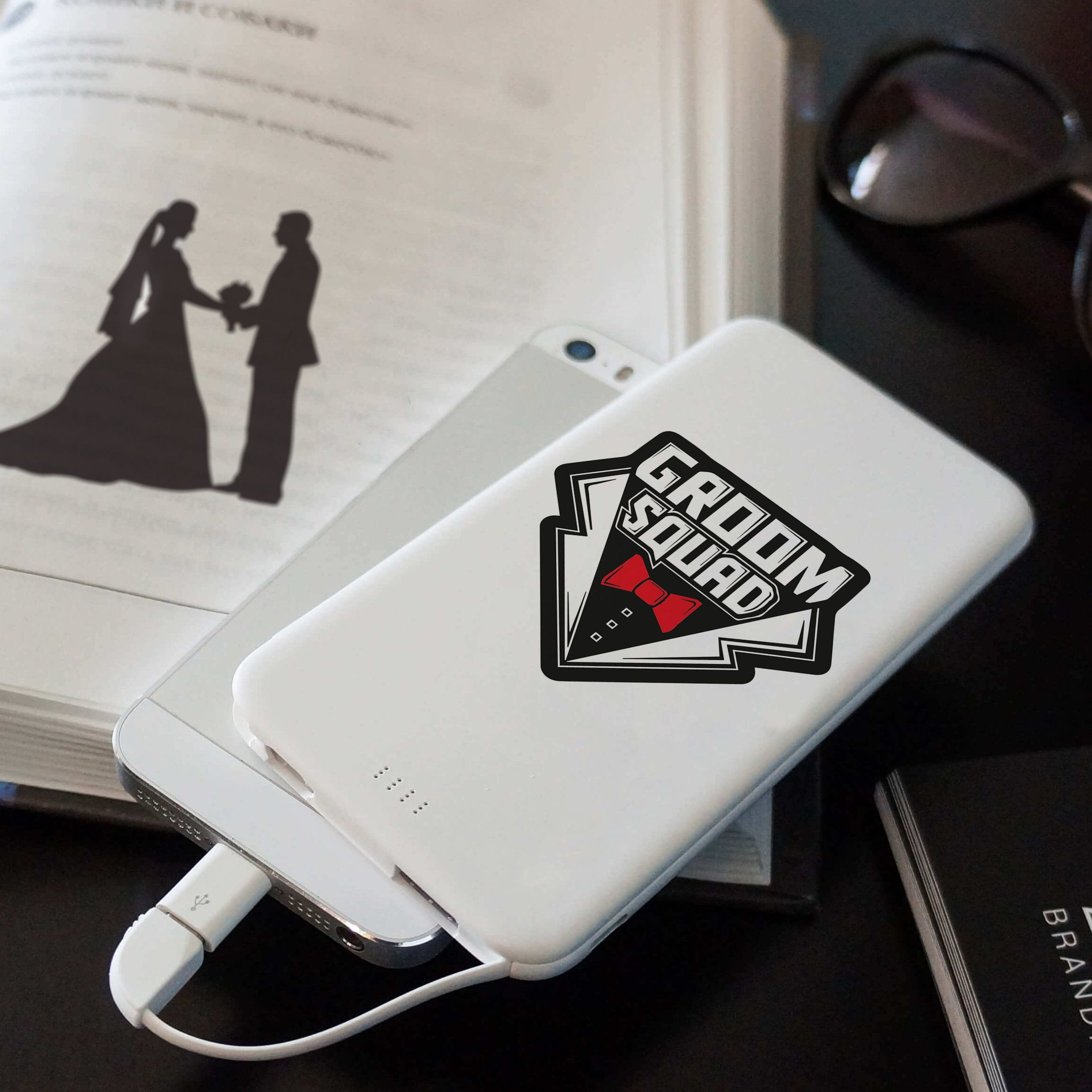 fefd3eb48da9e Wedding party custom gift for him power bank. Best man gift ...