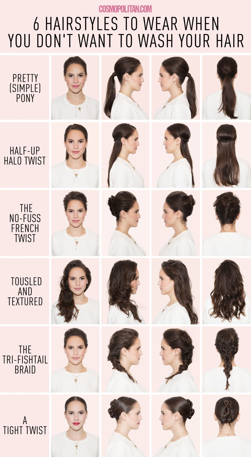 6 hairstyles for when you just can't wash your hair | hair