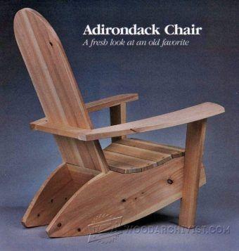 Adirondack Rocking Chair Plans | Rústico, Bancos y Sillones rusticos