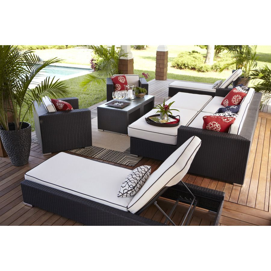 Shop Foremost Casual 10 Piece Ellendale Brown Steel Patio Conversation Set  With Solid Brown Cushions