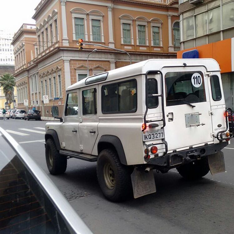 Land Rover Defender 110 White Running City Land Rover Defender