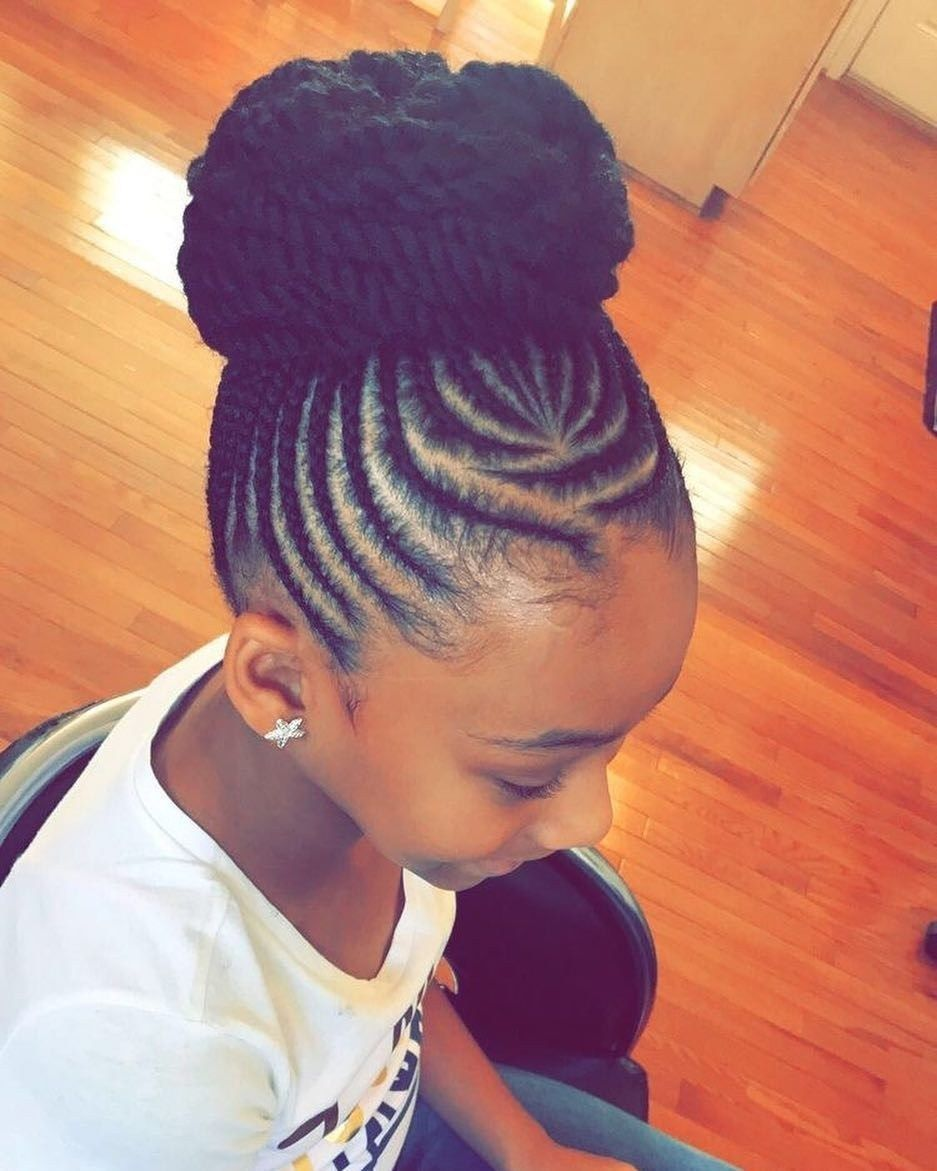 21 Braid Hairstyles For Little Girls That Will Make You Say Awwwww Thrivenaija Kids Braided Hairstyles Kids Hairstyles Lil Girl Hairstyles