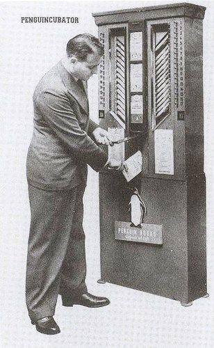 kirja-automaatti Penguincubator
