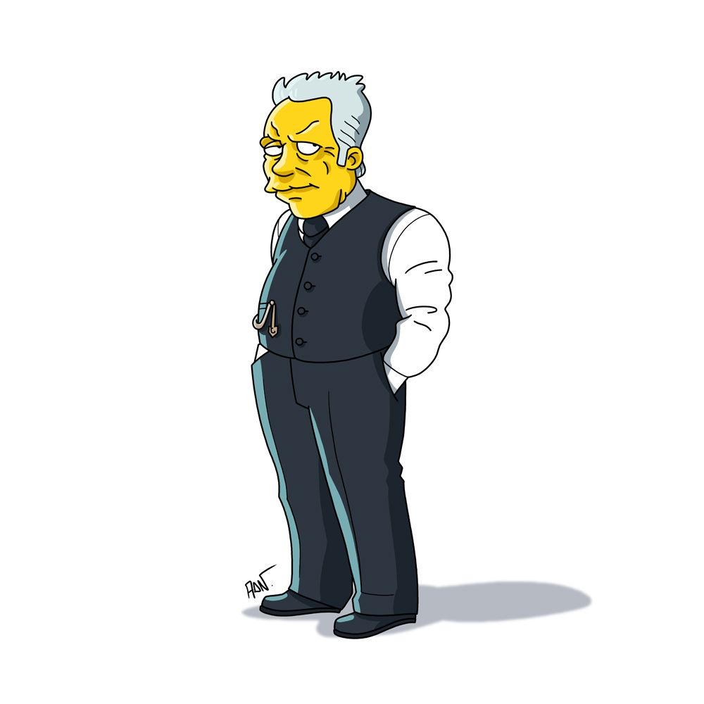 Dr Robert Ford From Hbo S Westworld Simpsonized By Adn 미니언