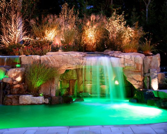 Amazing Grotto Pool Waterfall Swimming Pool Waterfall Swimming Pools Backyard