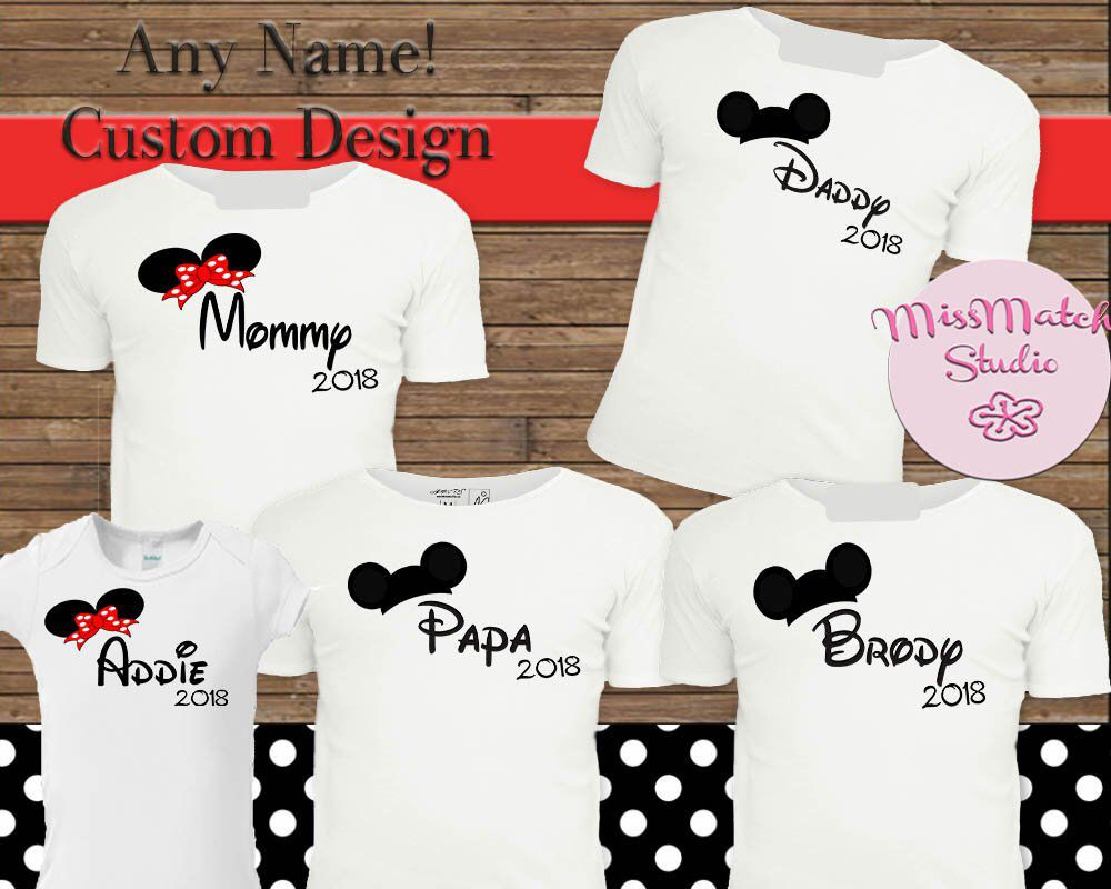 c245e61eb Mickey Mouse Birthday Red Dot Mom Dad T-Shirt Shipped!! Mickey Mouse Mom  Birthday Boy Shirt DIY Iron On Digital Art Matching Family