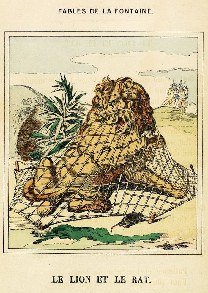 La fontaine le lion et le rat 17e si cle rats lion - Image le lion et le rat ...