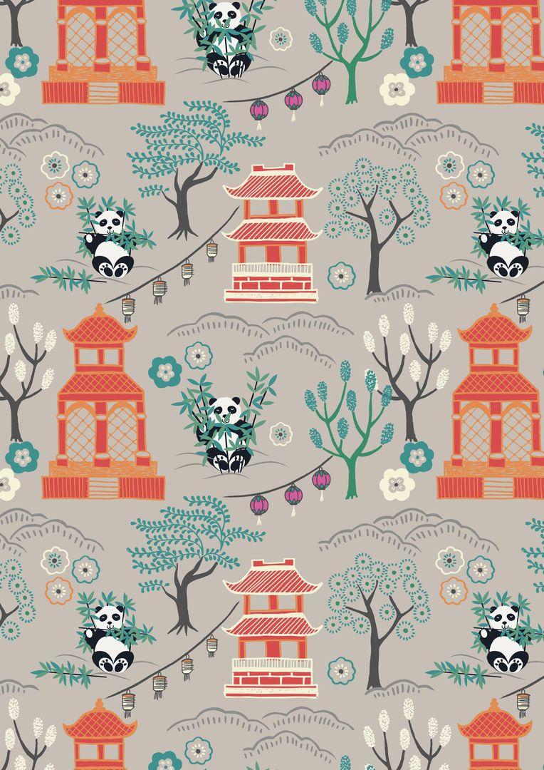 RED PANDAS PATCHWORK// CRAFT FABRIC FAT QTR LEWIS /& IRENE MIN SHAN DESIGN