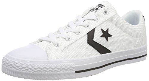 sports shoes 52b65 e4045 Converse Star Player Ox, Sneaker Unisex-Adulto, Bianco (White Black