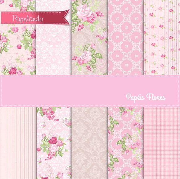 Papéis Floral