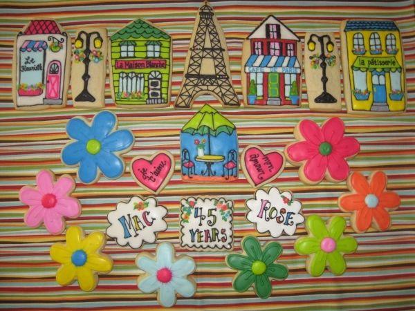 Paris Anniversary Cookies
