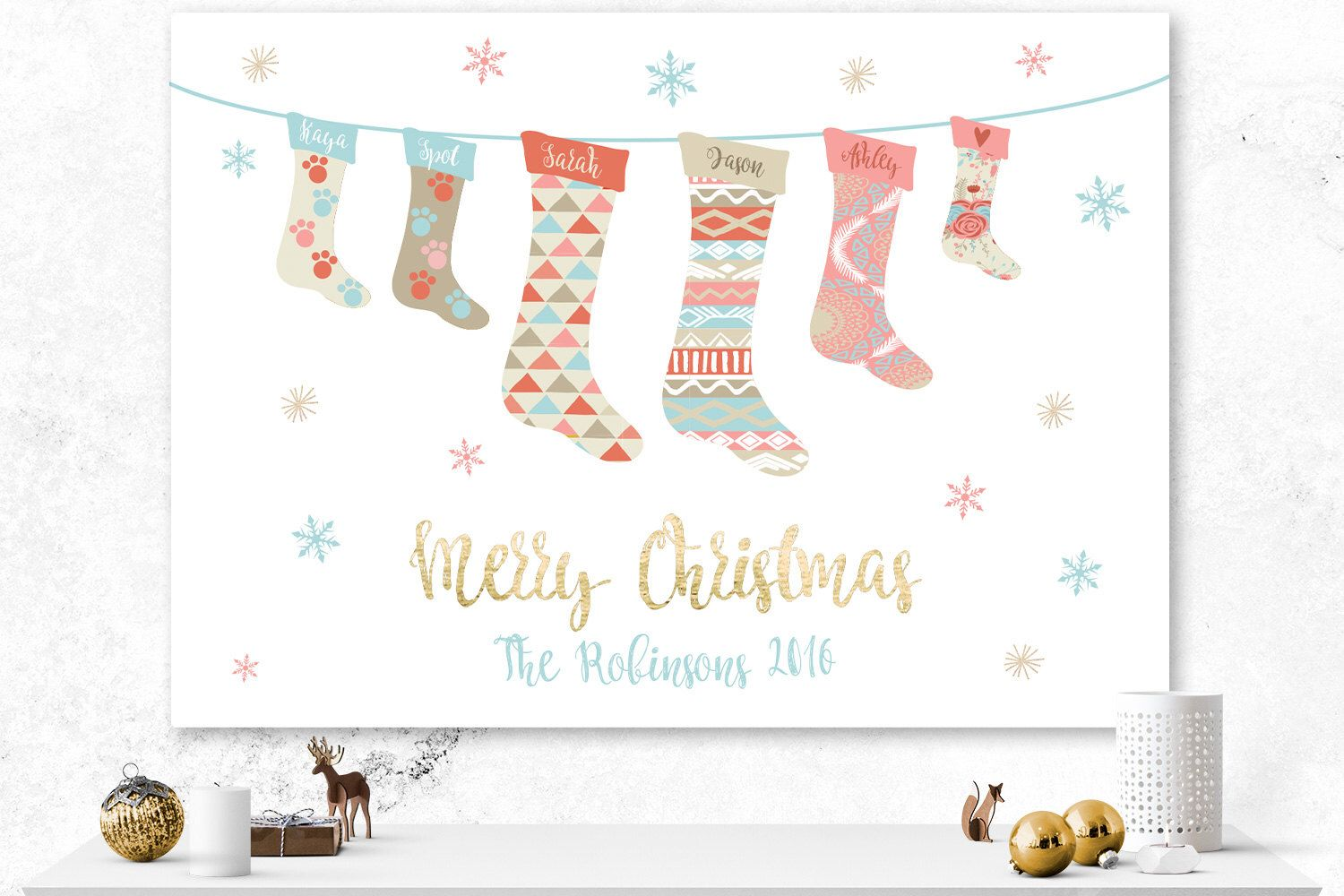 Personalized Family Christmas Cards Stocking Christmas Card Etsy Family Christmas Cards Printable Holiday Card Custom Christmas Cards