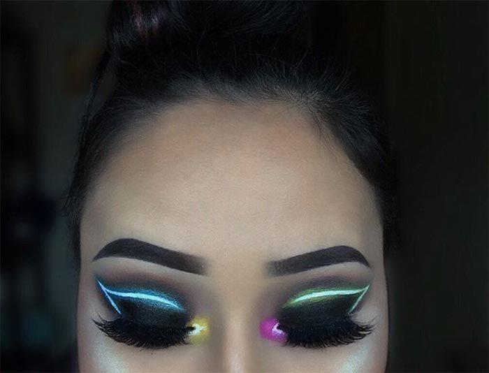 Neon Light Makeup Trend Is Huge On Instagram Com Imagens
