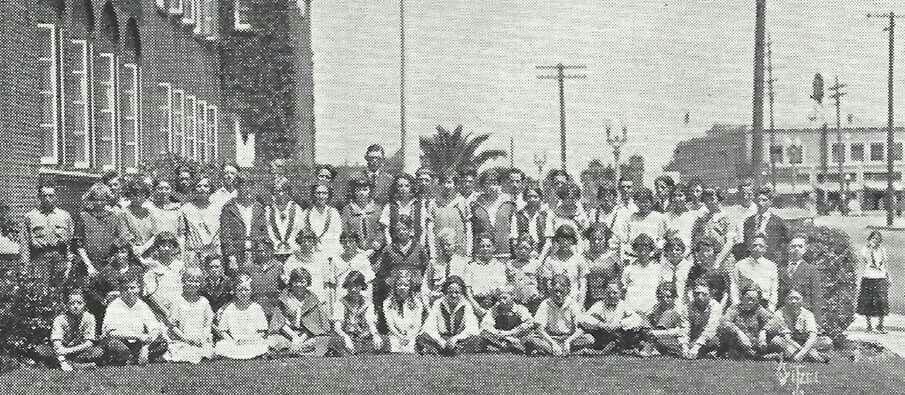 1924 Wilmington High School. Avalon and PCH Wilmington