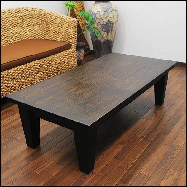 Asian Modern Teak Solid Wood Coffee Table 120 Cm Dark Brown Asian