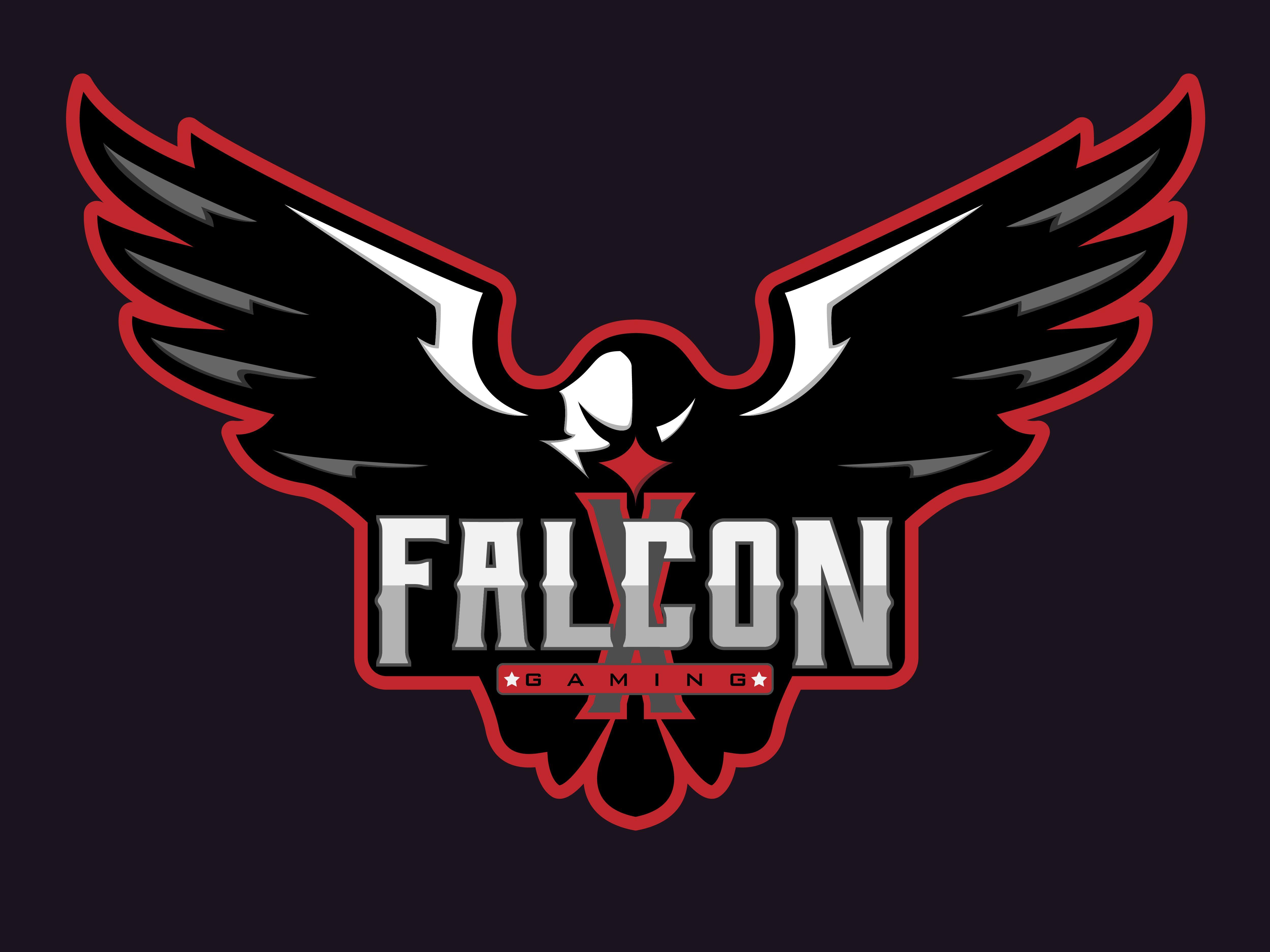 X Falcon Gaming Falcons Game Pegasus Logo Falcon Logo