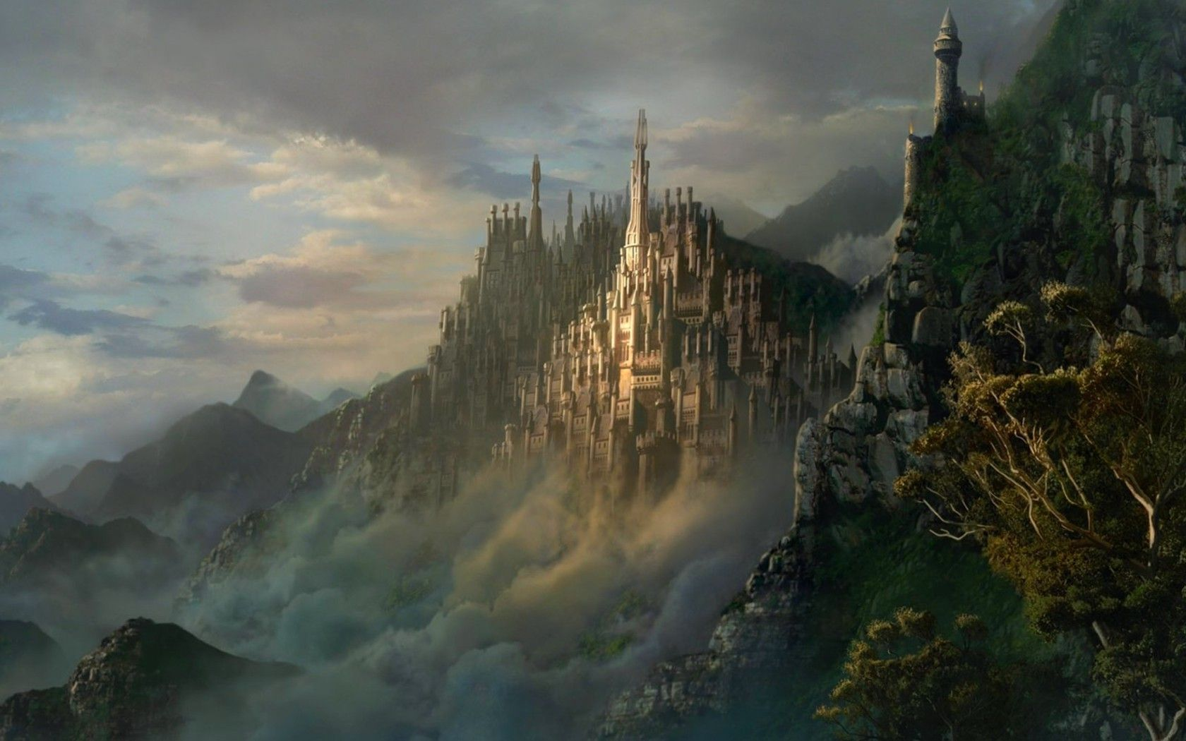 Mountain City Fantastical Places Cities & Towns