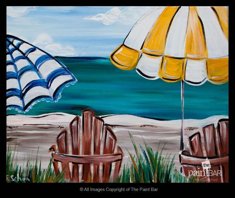 Beach View Painting Jackie Schon The Paint Bar Art Painting