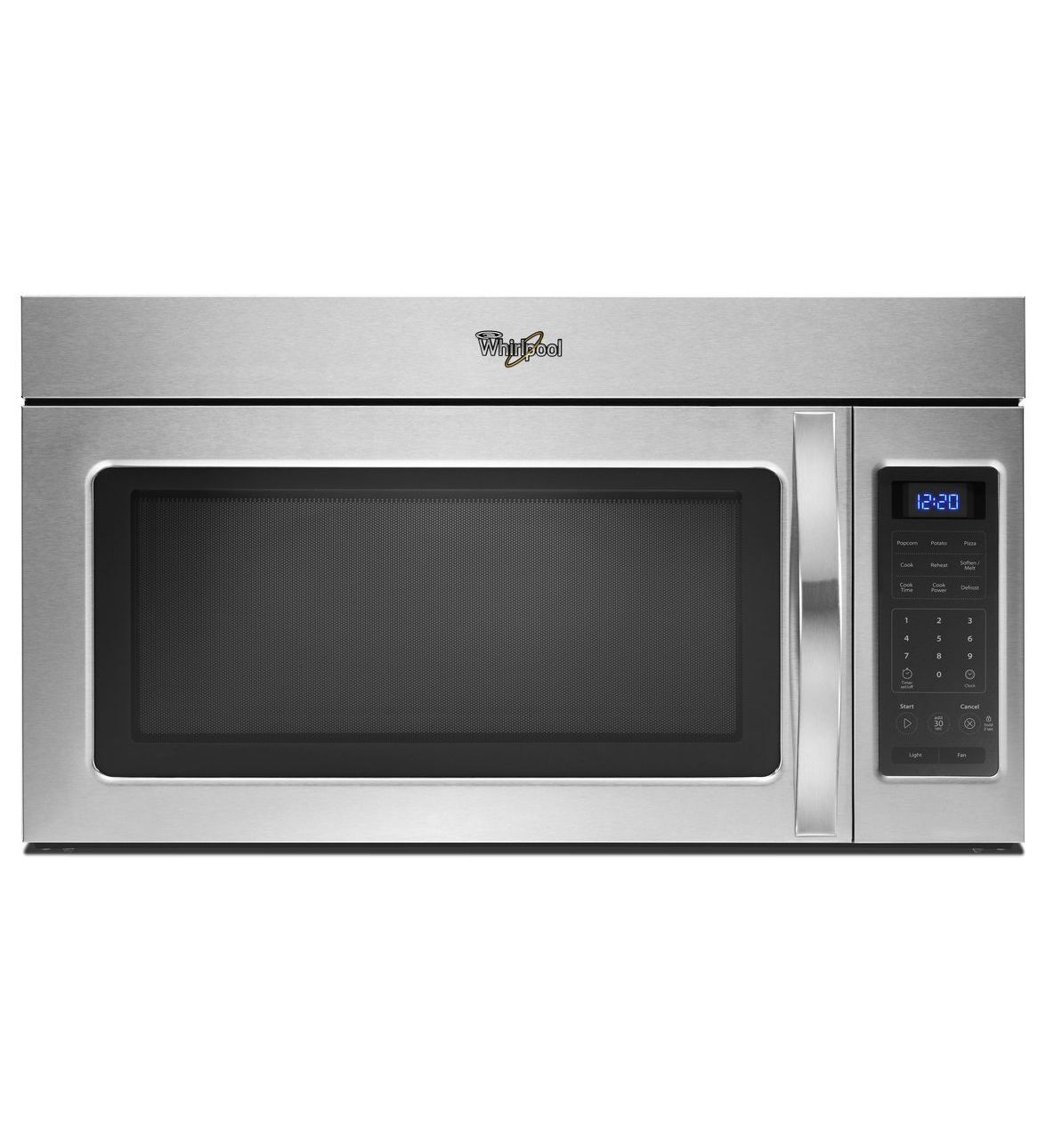 Whirlpool white ice microwave dimensions - Over The Range Microwave With Hidden Vent Wmh31017as Stainless Steel