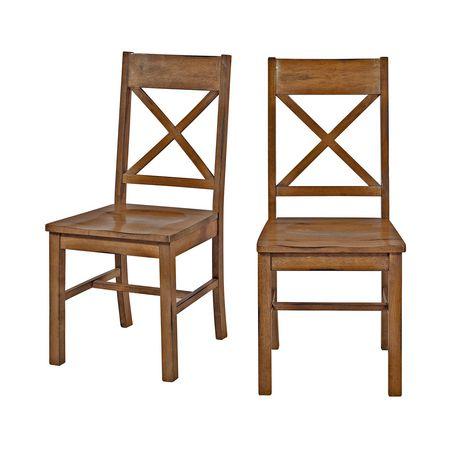 Manor Park Walker Edison Antique Brown Wood Dining Chair Antique
