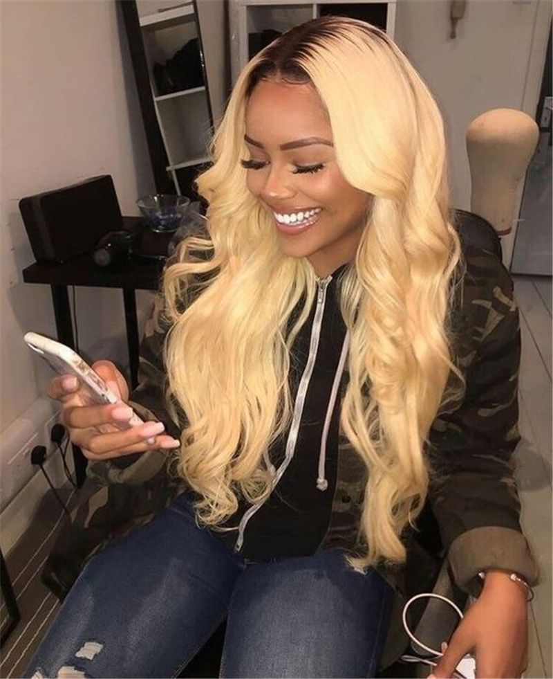 Hair Extensions & Wigs Romantic 613 Blonde Bundles With Closure Peruvian Body Wave Human Hair Weave Bundles With Closure Queen Virgin Remy Honey Blonde Bundles Human Hair Weaves