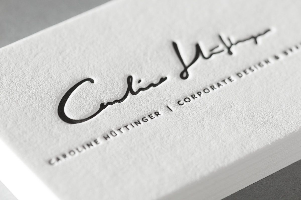 Letterpress Visitenkarten Business Cards