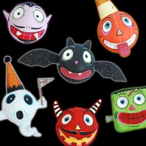 HALLOWEEN SPOOKY KOOKS Ornaments Glitterville Bat Monsters Ghost Devil Set of 6 by Glitterville, http://www.amazon.com/dp/B008L0NBJ8/ref=cm_sw_r_pi_dp_Xvnyqb07YAGBK