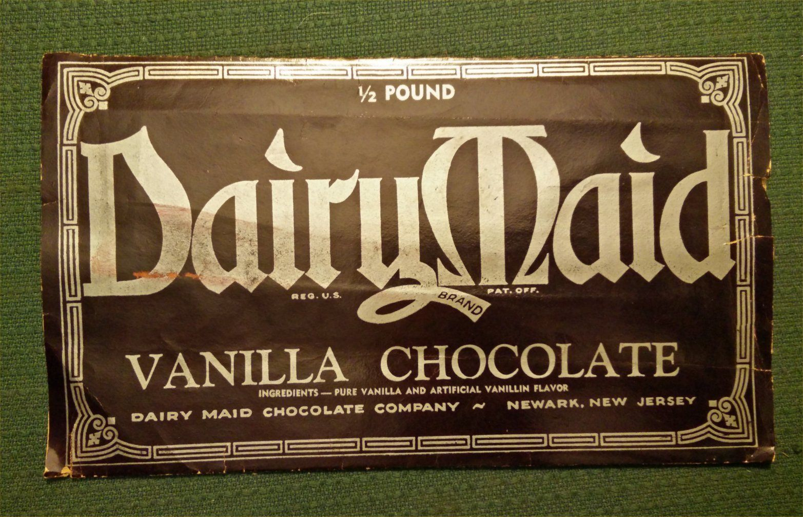 Dairy Maid Candy Bar From The S Or S