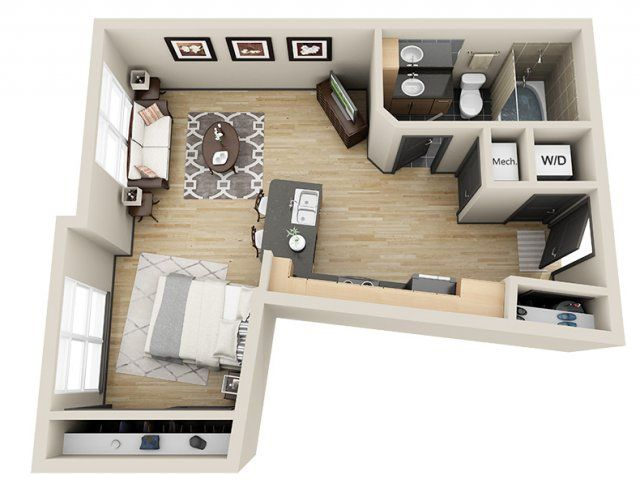 3d Floor Plan Image 2 For The Victory Floor Plan Of Property Mosaic South End Apartment Layout Floor Plans Apartment Architecture