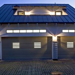 Contemporary Garage And Shed By Sorensen Architects Roofing Contractors General Roofing Systems Canada Garage Door Design Modern Garage Doors Garage Design