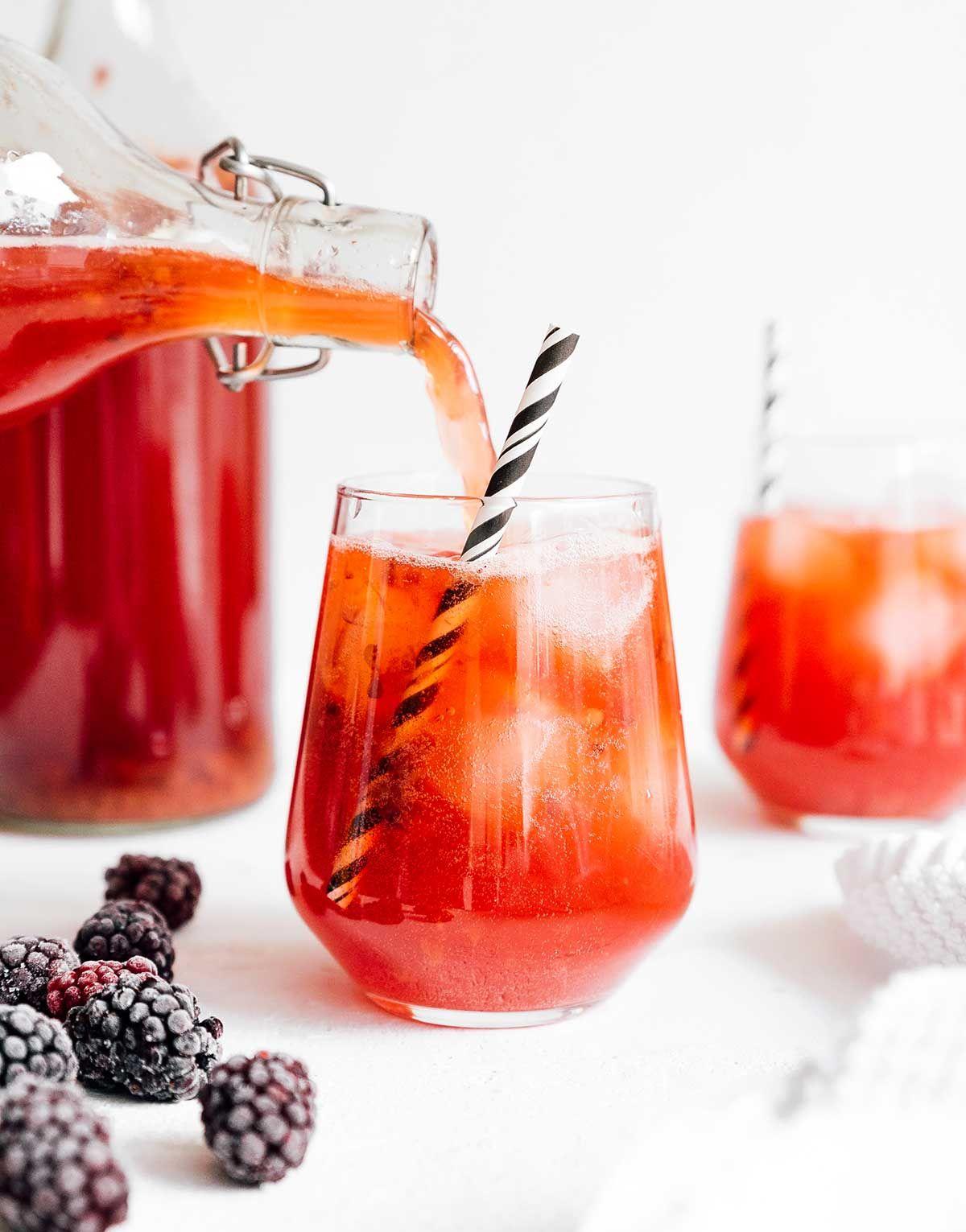 Home Brewed Blackberry Vanilla Kombucha Recipe In 2020 Homemade Kombucha Kombucha Recipe Kombucha Flavors