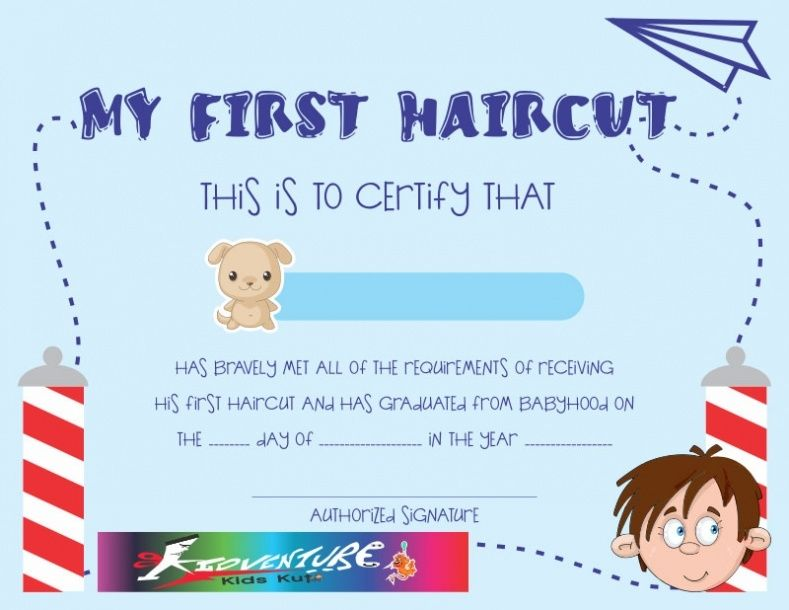 my first haircut certificate template.html