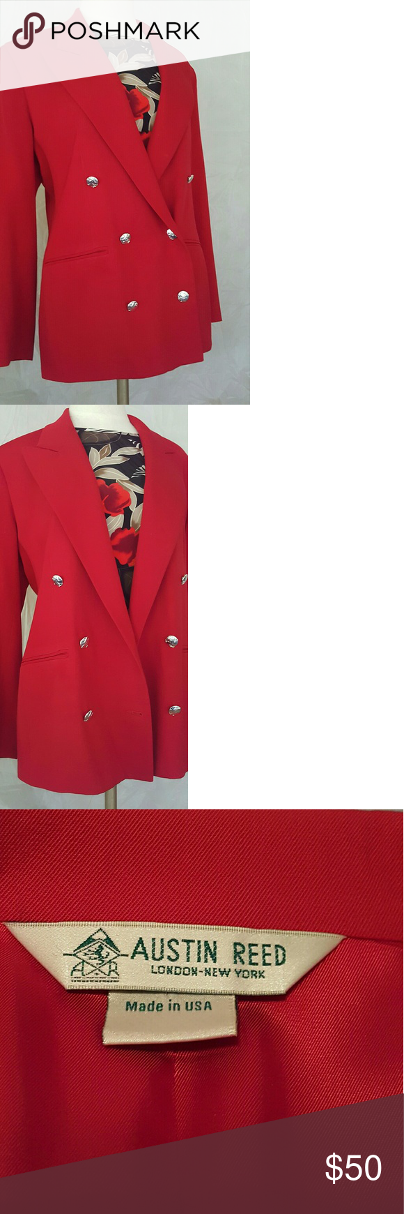 50austin Reed Double Breasted Wool Jacket Blazer Clothes Design Wool Jacket Fashion Design