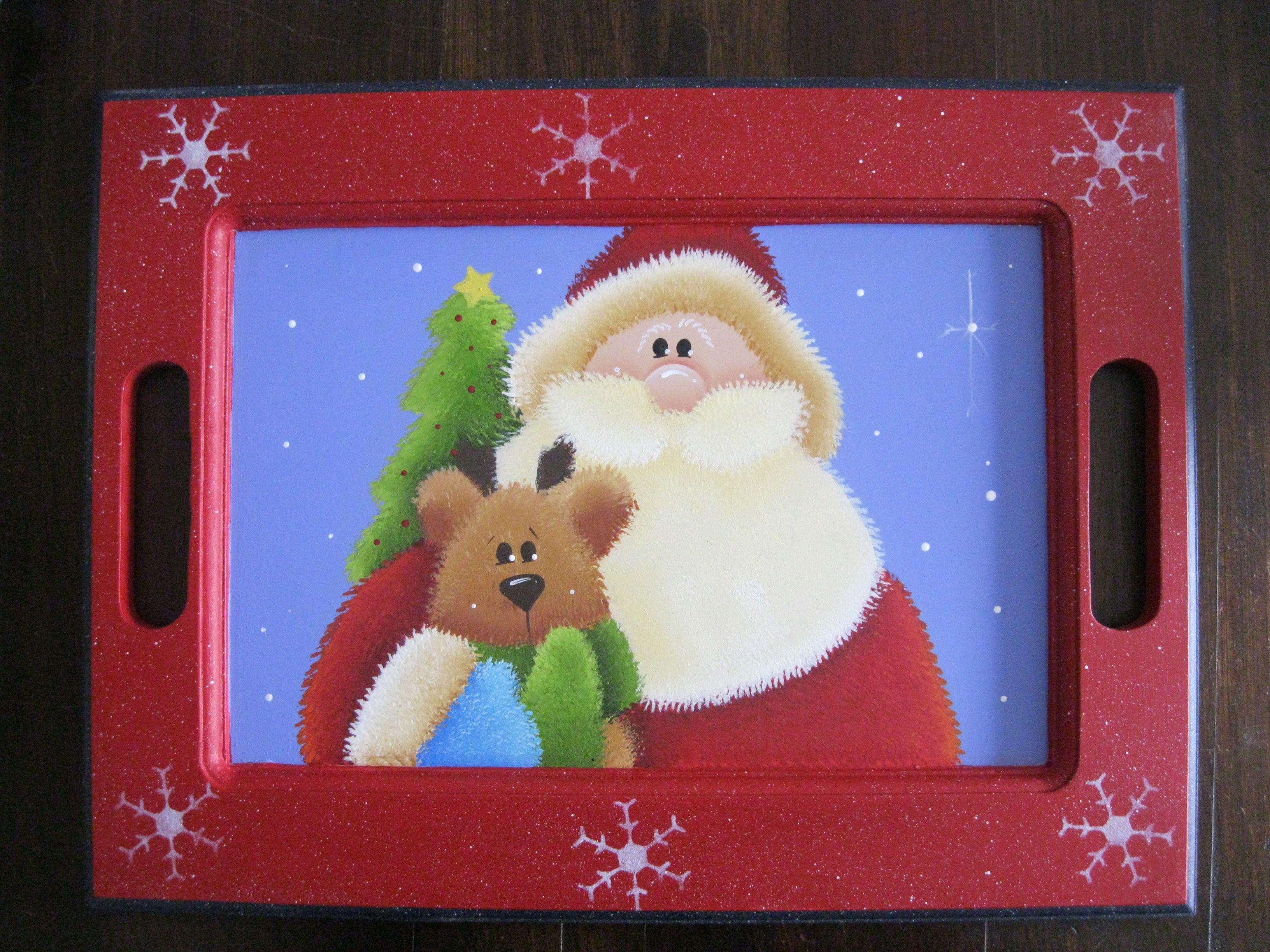 Bandeja y porta vasos navide os navidad ii pinterest for Bandejas de navidad