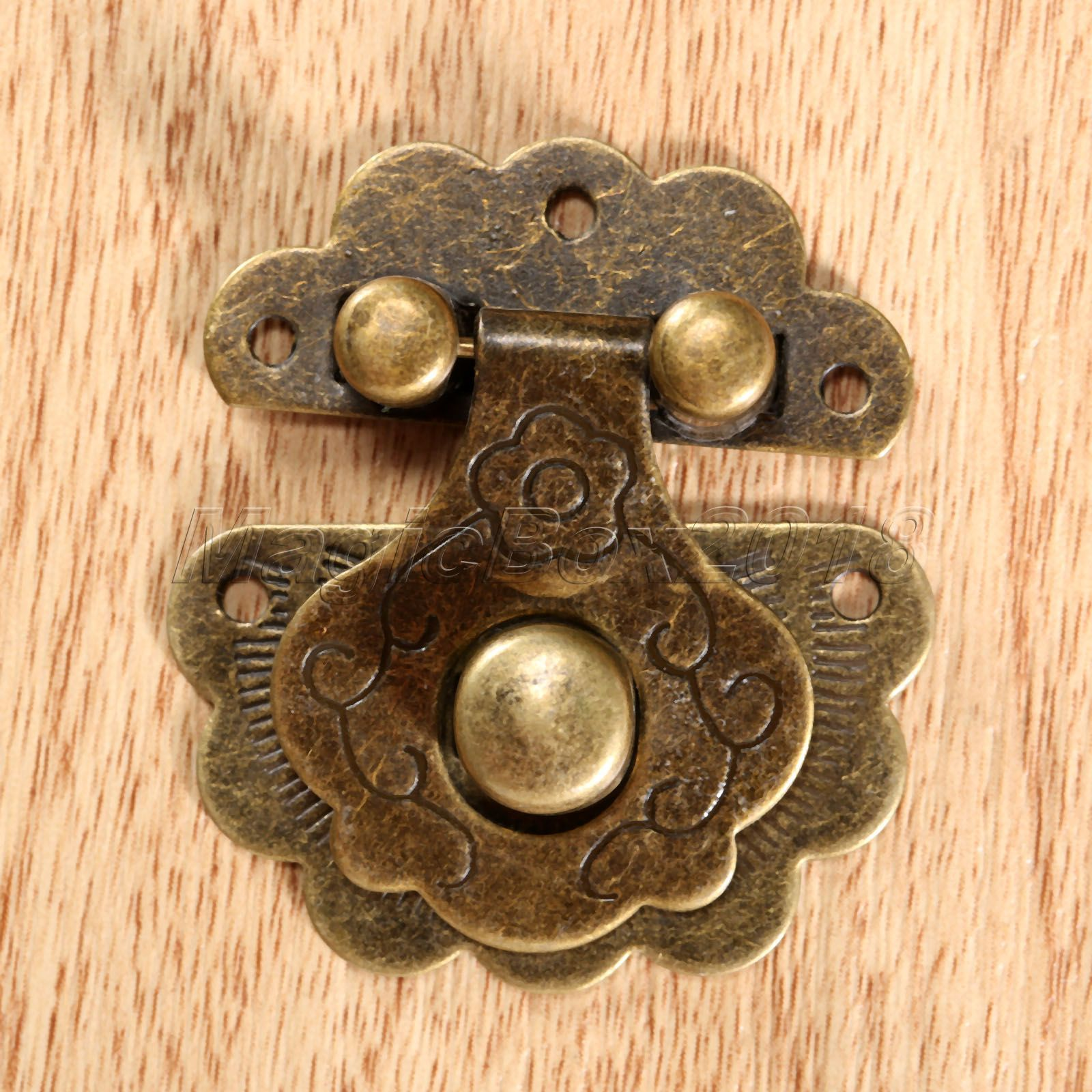 Retro Antique Brass Decorative Hasp European Style Jewelry Box Hasp Lock Latch