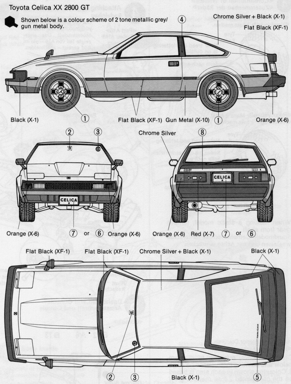 Toyota Celica Supra Three Highres Prints