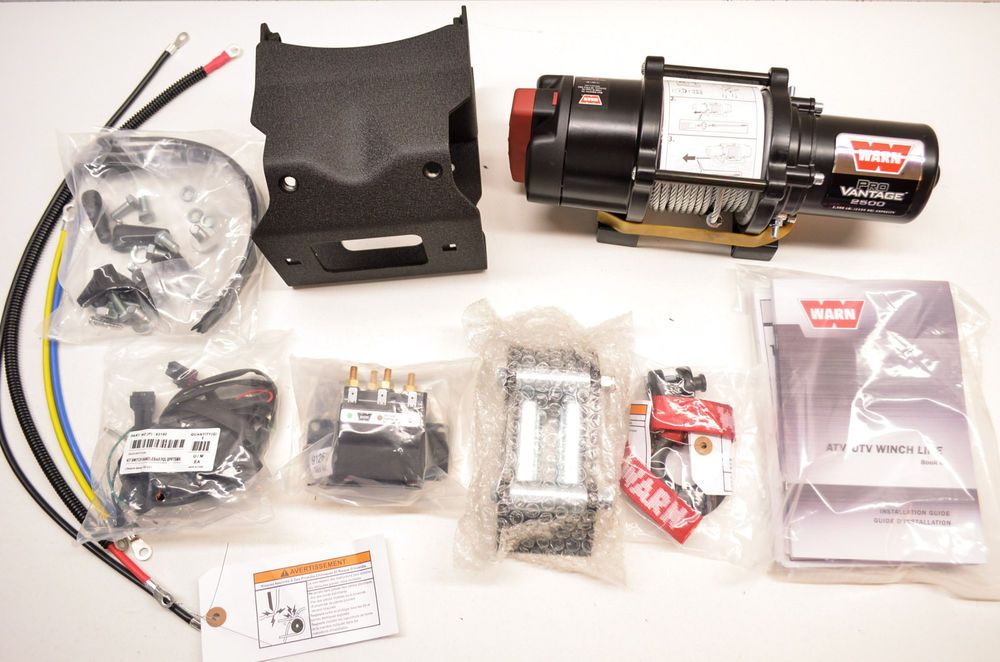 New Polaris Warn Provantage 2500 Atv Winch Kit Nos Ebay Motors Parts Amp Accessories Atv Parts Ebay Atv Winch Atv Winch