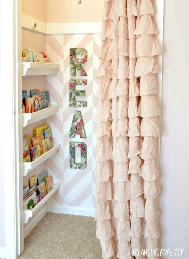 Closet Remodel: 3. A Cozy Reading Corner: Before they're old enough to fill closets with clothes and shoes, kids will love sneaking into a DIY nook for reading and playing, like this one from Balancing Home.