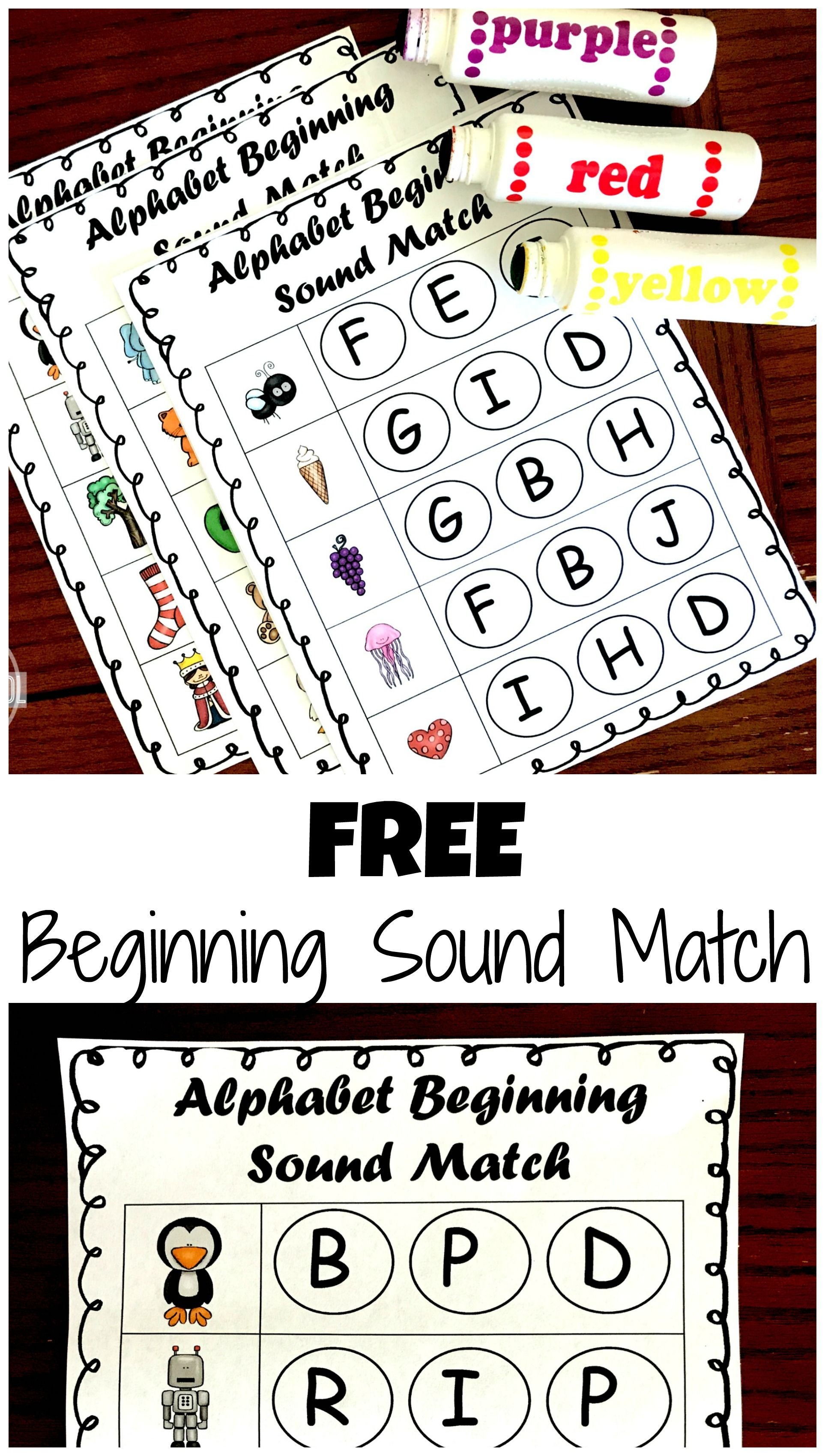 Phonics Beginning Sound Do A Dot Worksheets With Images