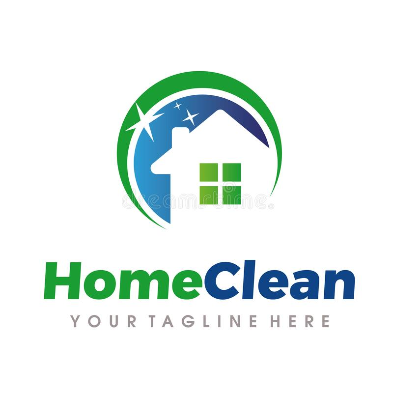 Home Cleaning And Cleaning Services Logo Home Cleaning Logo Cleaning Services Logo Royalty Free Illustration Cleaning Service Logo Service Logo Clean House