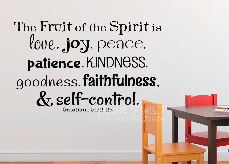 Galatians 522 The Fruit Of The Spirit Love Joy Peace Bible