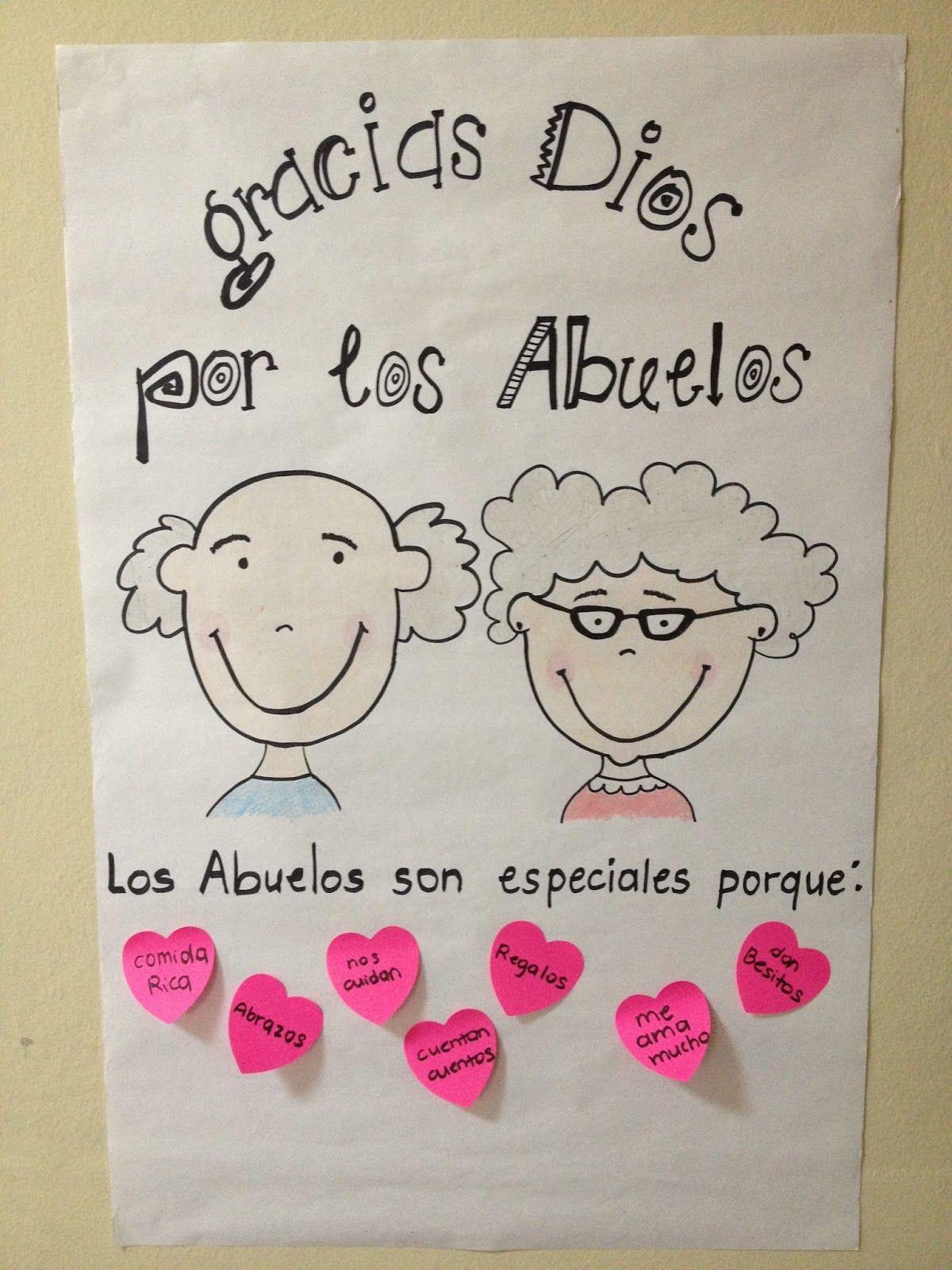 Mural Día De Los Abuelos Dia Del Abuelo Dibujo Abuela Regalo Para Abuelos
