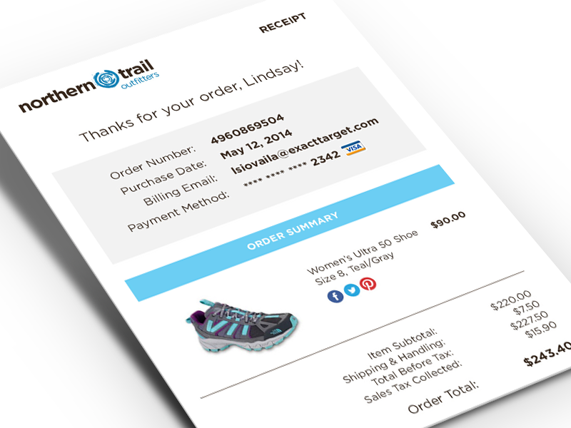 Nto Order Confirmation Email Email Template Design Order Confirmation Email Mobile App Inspiration