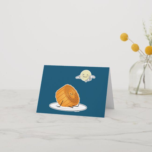 Mid Autumn Festival Moon cake lunar mooncakes pas Card | Zazzle.com #mooncake