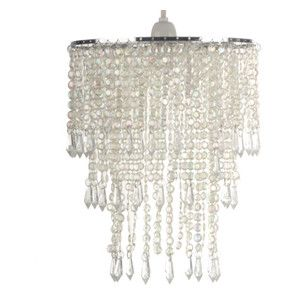 Clear beaded chandelier lamp shade bedroom ideas pinterest clear beaded chandelier lamp shade aloadofball Image collections