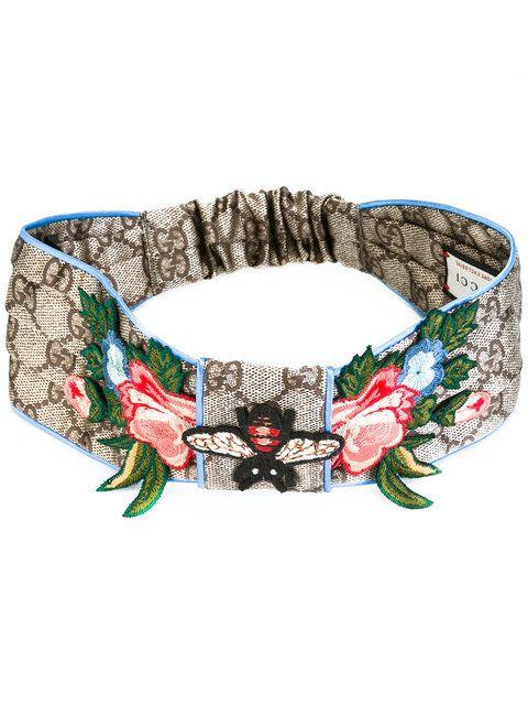 bbaef58e240 GUCCI Gg Supreme Embroidered Headband.  gucci  headband